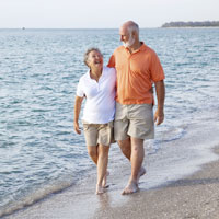 Walk on the beach and relax with a Folsom Medicare Supplement Plan in hand